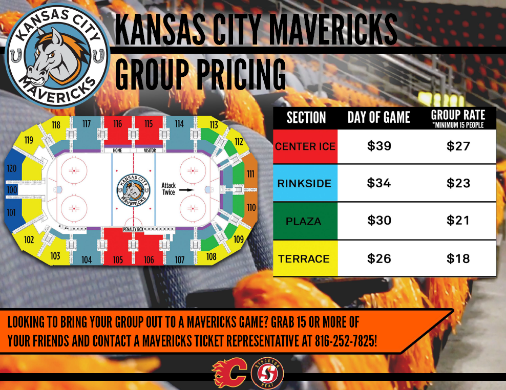 KC Mavericks Group Pricing 2018